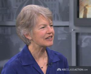 Patty Wipfler headshot on NBC Class Action video.